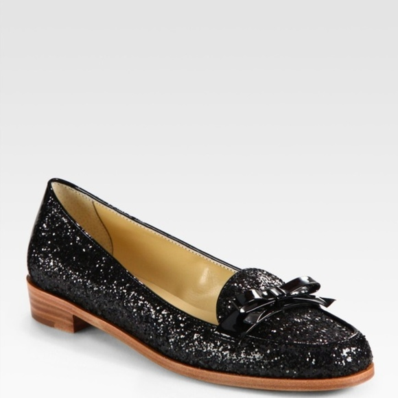 99166d24d8c kate spade Shoes -  Kate Spade  Black Glitter Loafer Cora Bow Flats